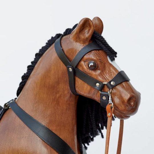 Le cheval à Bascule en Bois grand Royal Spinel de couleur baie