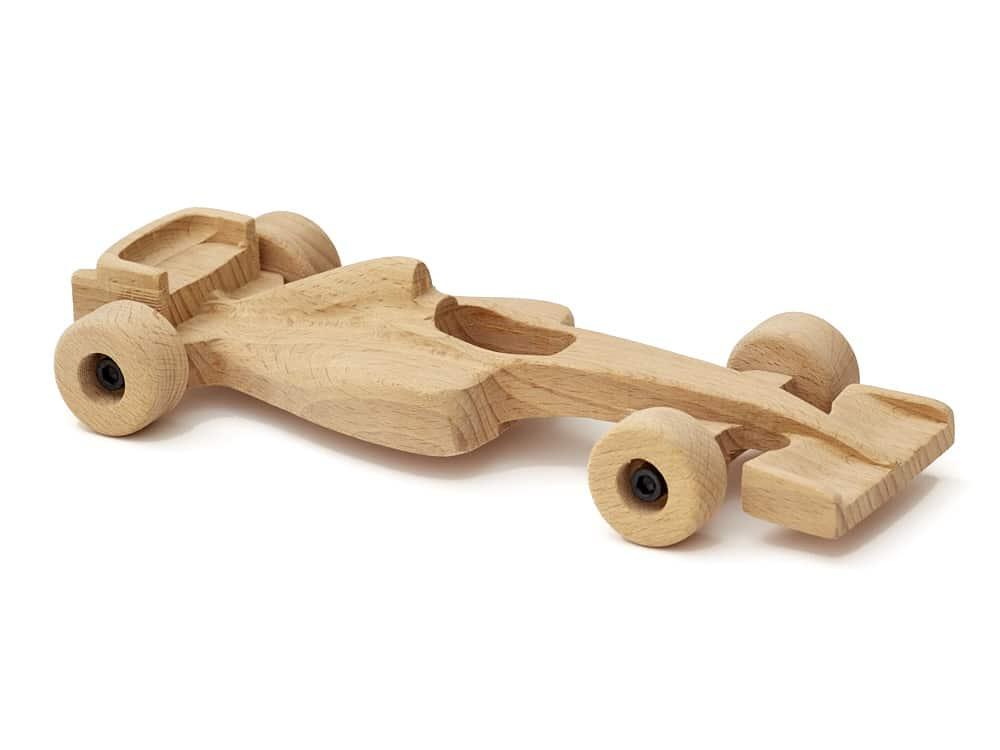 La voiture de course en bois
