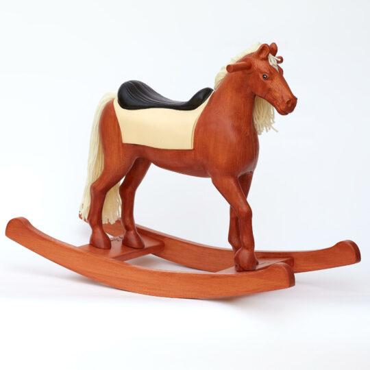 Cheval à bascule en bois Shining Spinel châtaigne