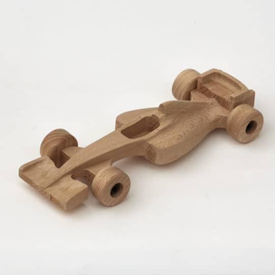 Dřevěná formule F1 z bukového dřeva