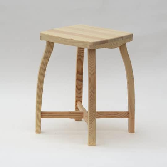 Tabouret de style de bois pin massif